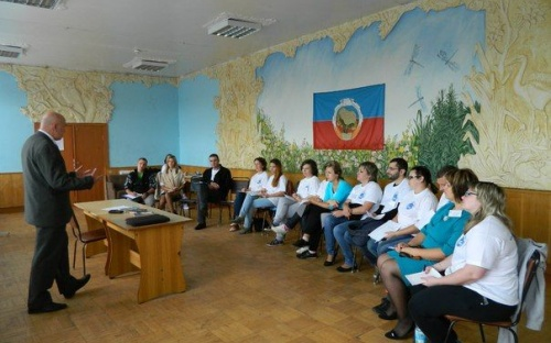 Председатель МС Ю.В. Кузина на учебе молодых профсозных лидеров
